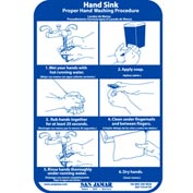 San Jamar® Hand Washing Station Smart Chart - HWWLCT