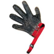 San Jamar MGA515L - 5 Finger, Stainless Steel Mesh, Cut Resistant Gloves, Large