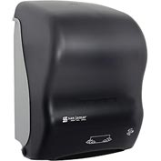 San Jamar® Simplicity Mechanical Hands Free Towel Dispenser - Black - T7000TBK