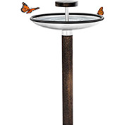 Blomus® 65033 Bird Feeder/Bath, Stainless Steel