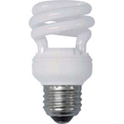 Sunlite® 00640-SU SMS9/65K 9W Super Mini Spiral CFL Light Bulb, Medium Base, Daylight