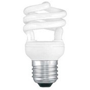 Sunlite® 00643-SU SMS11/65K 11W Super Mini Spiral CFL Light Bulb, Medium Base, Daylight