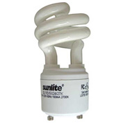 Sunlite® 00650-SU SL11/E/GU24/27K 11W GU24 Spiral CFL Light Bulb, GU24 Base, Warm White