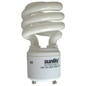 Sunlite® 00655-SU SL13/E/GU24/27K 13W GU24 Spiral CFL Light Bulb, GU24 Base, Warm White