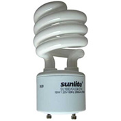 Sunlite® 00660-SU SL18/E/GU24/27K 18W GU24 Spiral CFL Light Bulb, GU24 Base, Warm White