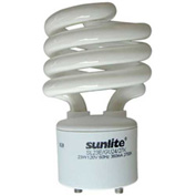 Sunlite® 00665-SU SL23/E/GU24/27K 23W GU24 Spiral CFL Light Bulb, GU24 Base, Warm White