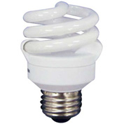 Sunlite® 00678-SU SMS9F/65K 9W Super Mini Spiral CFL Light Bulb, Medium Base, Daylight