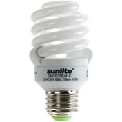 Sunlite® 00699-SU SMS13F/E/30K 13W Super Mini Spiral CFL Light Bulb, Medium Base, Warm White