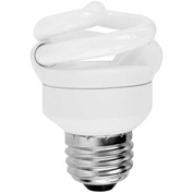 Sunlite® 00703-SU SMS5F/27K 5W Super Mini Spiral CFL Light Bulb, Medium Base, Warm White