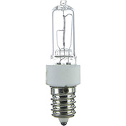 Sunlite 03149-SU Q75/CL/E14 75W Single Ended T4 Halogen Bulb, European Base, Clear - Pkg Qty 12