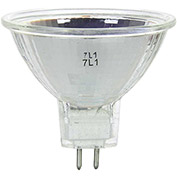 Sunlite 03225-SU 75MR16/NSP/12V 75W MR16 Mini Reflector Halogen Bulb, GU5.3 Base - Pkg Qty 24