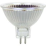 Sunlite 03230-SU 75MR16/FL/12V 75W MR16 Mini Reflector Halogen Bulb, GU5.3 Base - Pkg Qty 24
