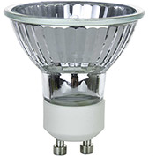 Sunlite 03233-SU 50MR16/CG/GU10/FL/120V 50W MR16 Mini Reflector Halogen Bulb, GU10 Base - Pkg Qty 24