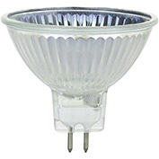 Sunlite 03243-SU 50MR16/CG/FL/12V 50W MR16 Mini Reflector Halogen Bulb, GU5.3 Base - Pkg Qty 24