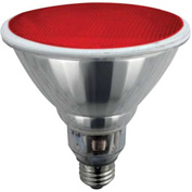 Sunlite® 05372-SU SL23PAR38/R 23W Colored PAR38 Reflector CFL Light Bulb, Medium Base, Red - Pkg Qty 12