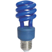 Sunlite® 05501-SU SM13/B 13W Colored Mini Spiral CFL Light Bulb, Medium Base, Blue
