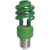 Sunlite® 05502-SU SM13/G 13W Colored Mini Spiral CFL Light Bulb, Medium Base, Green