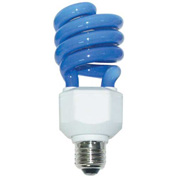Sunlite® 05511-SU SL24/B 24W Colored Spiral CFL Light Bulb, Medium Base, Blue