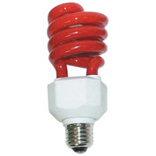 Sunlite® 05513-SU SL24/R 24W Colored Spiral CFL Light Bulb, Medium Base, Red