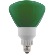Sunlite® 05610-SU SL25R40/G 25W R40 Reflector Colored CFL Light Bulb, Medium Base, Green