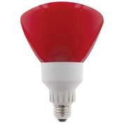 Sunlite® 05620-SU SL25R40/R 25W R40 Reflector Colored CFL Light Bulb, Medium Base, Red - Pkg Qty 12
