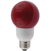 Sunlite® 05670-SU SLG9/R 9W Red Globe CFL Light Bulb, Medium Base, Pkg Qty- 24