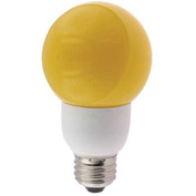 Sunlite® 05690-SU SLG9/Y 9W Yellow Globe CFL Light Bulb, Medium Base, Pkg Qty- 24