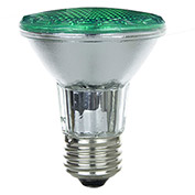 Sunlite 25055-SU 50PAR20/HAL/NFL/G 50W Colored PAR20 Reflector Halogen Bulb, Medium Base, Green - Pkg Qty 15