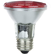 Sunlite 25060-SU 50PAR20/HAL/NFL/R 50W Colored PAR20 Reflector Halogen Bulb, Medium Base, Red - Pkg Qty 15