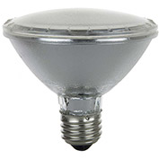 Sunlite 25125-SU 50PAR30/HAL/NSP 50W PAR30 Reflector Halogen Bulb, Medium Base, Clear - Pkg Qty 15