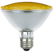 Sunlite 25170-SU 75PAR30/HAL/NFL/Y 75W Colored PAR30 Reflector Halogen Bulb, Medium Base, Yellow - Pkg Qty 15