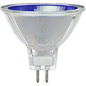 Sunlite 66085-SU 50MR16/NSP/12V/B 50W Colored MR16 Mini Reflector Halogen Bulb, GU5.3 Base, Blue - Pkg Qty 12