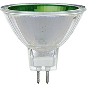 Sunlite 66090-SU 50MR16/NSP/12V/G 50W Colored MR16 Mini Reflector Halogen Bulb, GU5.3 Base, Green - Pkg Qty 12