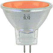Sunlite 66140-SU 20MR11/GU4/NSP/12V/O 20W Colored MR11 Mini Reflector Halogen Bulb, GU4 Base, Orange - Pkg Qty 12