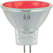 Sunlite 66145-SU 20MR11/GU4/NSP/12V/R 20W Colored MR11 Mini Reflector Halogen Bulb, GU4 Base, Red - Pkg Qty 12