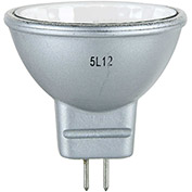 Sunlite 66150-SU 20MR11/CG/GU4/NFL/12V/SB 20W Silver Back MR11 Mini Reflector Halogen Bulb, GU4 Base - Pkg Qty 12