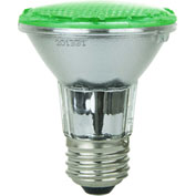 Sunlite 80002-SU PAR20/LED/3W/G 3W PAR20 Colored Reflector, Medium Base Bulb, Green - Pkg Qty 12