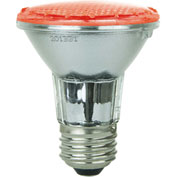 Sunlite 80003-SU PAR20/LED/2W/R 2W PAR20 Colored Reflector, Medium Base Bulb, Red - Pkg Qty 12