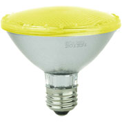 Sunlite 80025-SU PAR30/LED/3W/Y 3W PAR30 Colored Reflector, Medium Base Bulb, Yellow - Pkg Qty 12