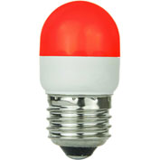 Sunlite 80253-SU T10/LED/1W/R 1W T10 Tubular Indicator, Medium Base Bulb, Red - Pkg Qty 10
