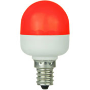 Sunlite 80269-SU T10/LED/0.5W/C/R 0.5W T10 Tubular Indicator, Candelabra Base Bulb, Red - Pkg Qty 10