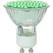 Sunlite 80327-SU MR16/LED/2.8W/GU10/G 2.8W MR16 Colored Mini Reflector, GU10 Base Bulb, Green - Pkg Qty 12