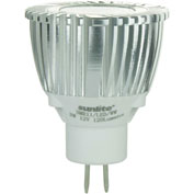 Sunlite 81000-SU MR11/LED/3W/GU4/12V/WW 3W MR11 Mini Reflector, GU4 Base Bulb, Warm White - Pkg Qty 10