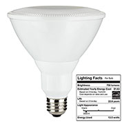 Sunlite 88057-SU PAR30L/LED/14W/FL40/DIM/ES/30K 14W PAR30 Reflector, Medium Base Bulb, Warm White - Pkg Qty 6