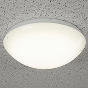 "Superior Lighting FM11154120W LED Flush Mount Ceiling Light Fixture,11""Round, 15W, 1000 Lumen, White"