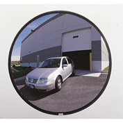 """See All® 160-Degree Outdoor Acrylic Convex Mirror W/Stainless Steel Back, 18"""" Dia. - PLXO18SSB"""