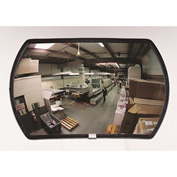 "See All® 160-Degree Round Rectangular Acrylic Convex Mirror - Outdoor, 24"" x 36"" - PLXO2436ABS"