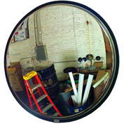 """See All® 160-Degree Stainless Steel Convex Mirror W/Stainless Steel Back, 34"""" Diameter - SSO34"""