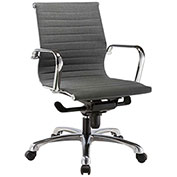Storlie Slung Stitched Office Chair with Arms - Fabric - Slate - Jazz Series