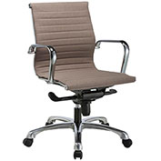 Storlie Slung Stitched Office Chair with Arms - Fabric - Taupe - Jazz Series